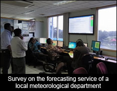 Survey on the forecasting service of a local meteorological department