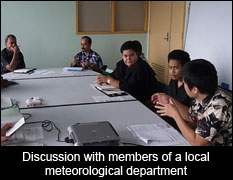 Discussion with members of a local meteorological department