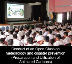Conduct of an Open Class on meteorology and disaster prevention (Preparation and Utilization of Animated Cartoons)