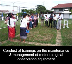 Conduct of trainings on the maintenance & management of meteorological observation equipment