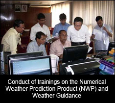 Conduct of trainings on the Numerical Weather Prediction Product (NWP) and Weather Guidance