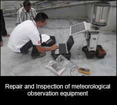 Repair and Inspection of Meteorological Observation Equipment